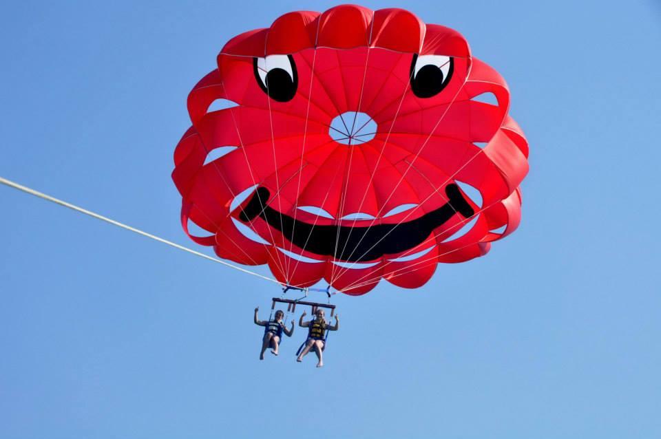parasailing blog watersport aan de Bloemenrivièra