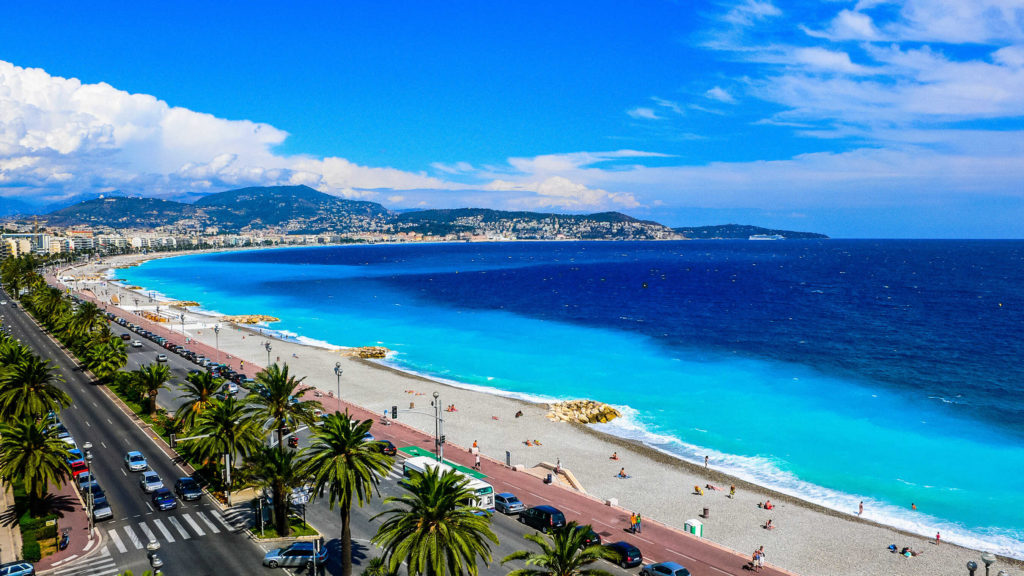 De elegante boulevard Nice