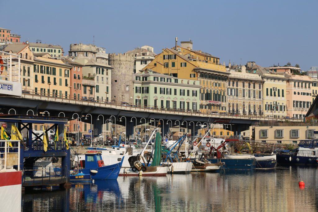 Genua een kleurrijke havenstad
